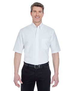 White Men's Classic Wrinkle-Resistant Short-Sleeve Oxford