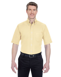 Butter Men's Classic Wrinkle-Resistant Short-Sleeve Oxford
