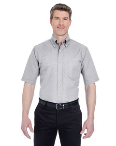 Charcoal Men's Classic Wrinkle-Resistant Short-Sleeve Oxford