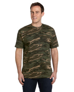 Camouflage Green Ringspun Heavyweight Camouflage T-Shirt