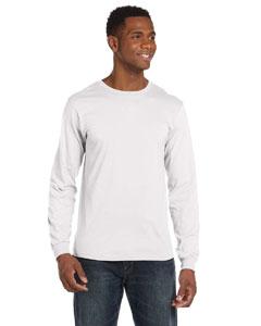 White Ringspun Long-Sleeve T-Shirt