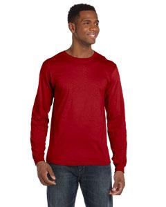 Red Ringspun Long-Sleeve T-Shirt