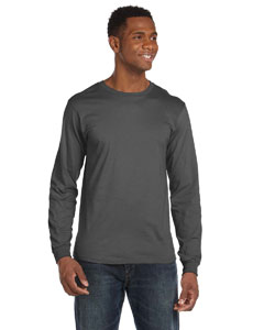 Charcoal Ringspun Long-Sleeve T-Shirt