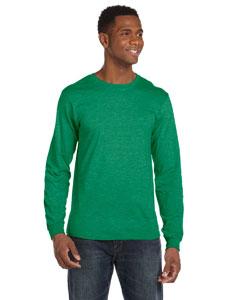 Heather Green Ringspun Long-Sleeve T-Shirt