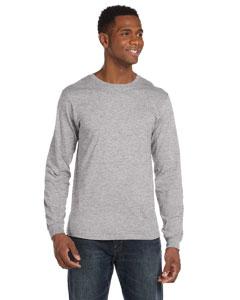 Heather Grey Ringspun Long-Sleeve T-Shirt