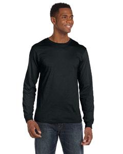 Black Ringspun Long-Sleeve T-Shirt