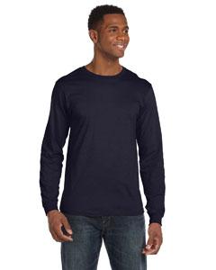Navy Ringspun Long-Sleeve T-Shirt