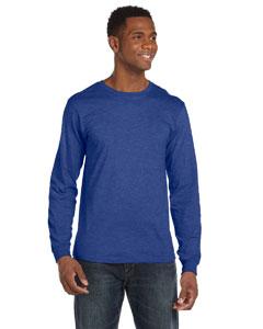 Heather Blue Ringspun Long-Sleeve T-Shirt