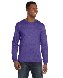 Heather Purple Ringspun Long-Sleeve T-Shirt