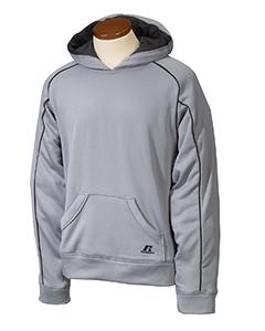 Steel/black Youth Tech Fleece Pullover Hood