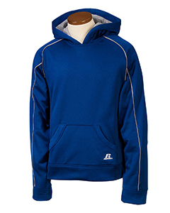 Royal/steel Youth Tech Fleece Pullover Hood