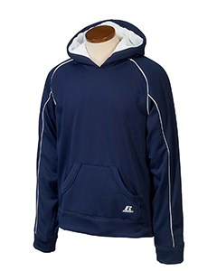 Navy/white Youth Tech Fleece Pullover Hood