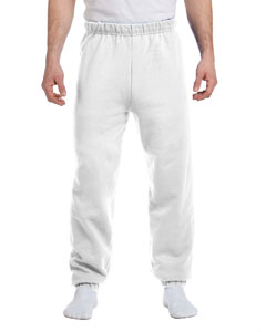 White 8 oz., 50/50 NuBlend® Fleece Sweatpants
