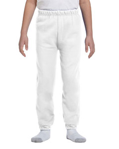 White Youth 8 oz., 50/50 NuBlend® Sweatpants