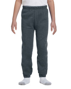 Black Heather Youth 8 oz., 50/50 NuBlend® Sweatpants