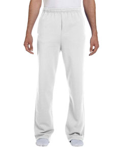 White 8 oz., 50/50 NuBlend® Open-Bottom Sweatpants