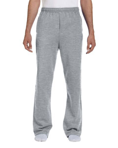 Athletic Heather 8 oz., 50/50 NuBlend® Open-Bottom Sweatpants