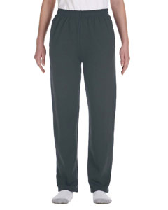 Black Heather Youth 8 oz., 50/50 NuBlend® Open-Bottom Sweatpants