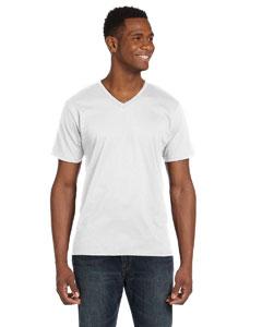 White Ringspun V-Neck T-Shirt