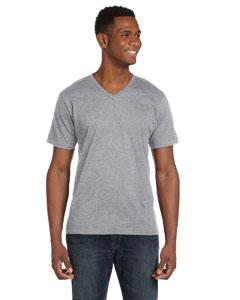 Heather Grey Ringspun V-Neck T-Shirt