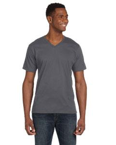 Charcoal Ringspun V-Neck T-Shirt