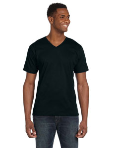 Black Ringspun V-Neck T-Shirt