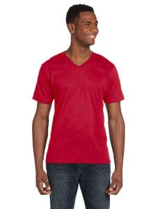Red Ringspun V-Neck T-Shirt