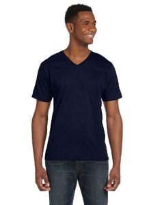 Navy Ringspun V-Neck T-Shirt