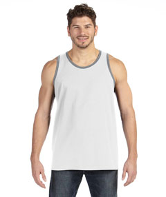 White/hther Gry Ringspun Tank