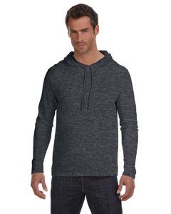 Hth Dk Gy/dk Gy Ringspun Long-Sleeve Hooded T-Shirt