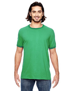 H Gr/ Tr Kly Grn Lightweight Ringer T-Shirt