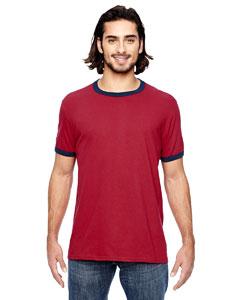 Ind Red/ Navy Lightweight Ringer T-Shirt