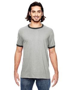 H Gr/ Tr H Dk Gr Lightweight Ringer T-Shirt