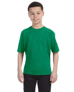 Heather Green Youth Ringspun T-Shirt