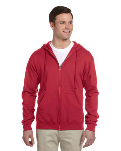 True Red 8 oz., 50/50 NuBlend® Fleece Full-Zip Hood