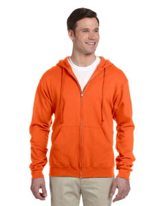 Safety Orange 8 oz., 50/50 NuBlend® Fleece Full-Zip Hood