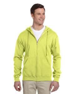 Safety Green 8 oz., 50/50 NuBlend® Fleece Full-Zip Hood