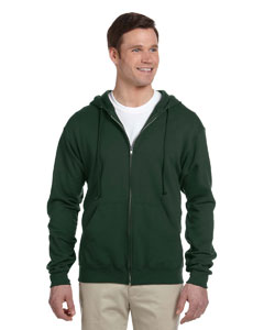 Forest Green 8 oz., 50/50 NuBlend® Fleece Full-Zip Hood