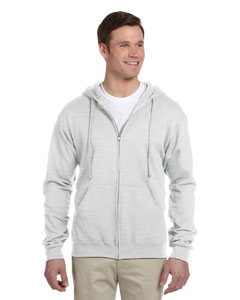 Ash 8 oz., 50/50 NuBlend® Fleece Full-Zip Hood