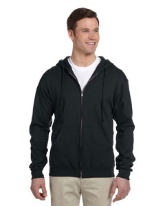 Black 8 oz., 50/50 NuBlend® Fleece Full-Zip Hood