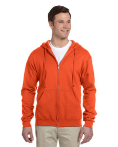 Burnt Orange 8 oz., 50/50 NuBlend® Fleece Full-Zip Hood