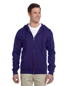 Deep Purple 8 oz., 50/50 NuBlend® Fleece Full-Zip Hood