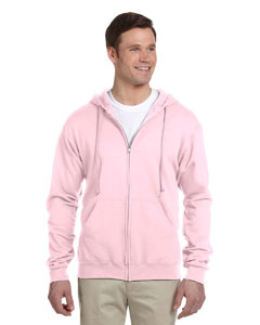 Classic Pink 8 oz., 50/50 NuBlend® Fleece Full-Zip Hood