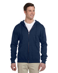 Vintage Hth Navy 8 oz., 50/50 NuBlend® Fleece Full-Zip Hood