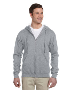 Athletic Heather 8 oz., 50/50 NuBlend® Fleece Full-Zip Hood