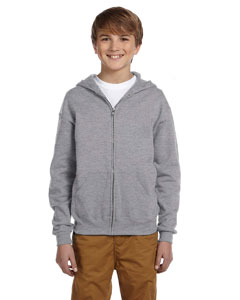 Oxford Youth 8 oz., 50/50 NuBlend® Fleece Full-Zip Hood