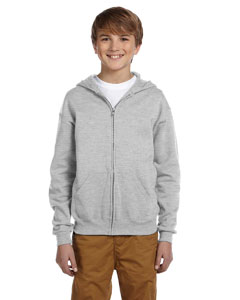 Ash Youth 8 oz., 50/50 NuBlend® Fleece Full-Zip Hood