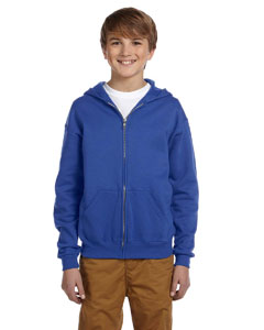 Royal Youth 8 oz., 50/50 NuBlend® Fleece Full-Zip Hood