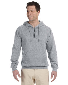 Oxford 8 oz., 50/50 NuBlend® Fleece Quarter-Zip Pullover Hood