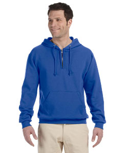 Royal 8 oz., 50/50 NuBlend® Fleece Quarter-Zip Pullover Hood